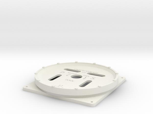 Hawker Hurricane UC Indicator in White Natural Versatile Plastic