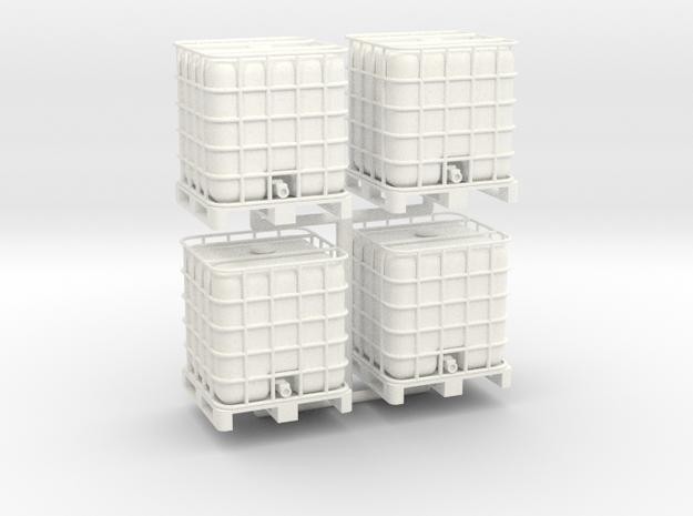 275 Gallon Pallet Tank - 4pk in White Strong & Flexible Polished