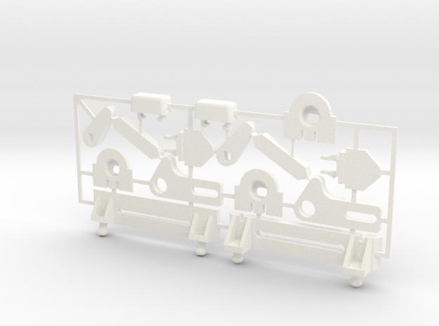 Lancia Delta rep. set FULL Instrument Einbaurahmen in White Strong & Flexible Polished