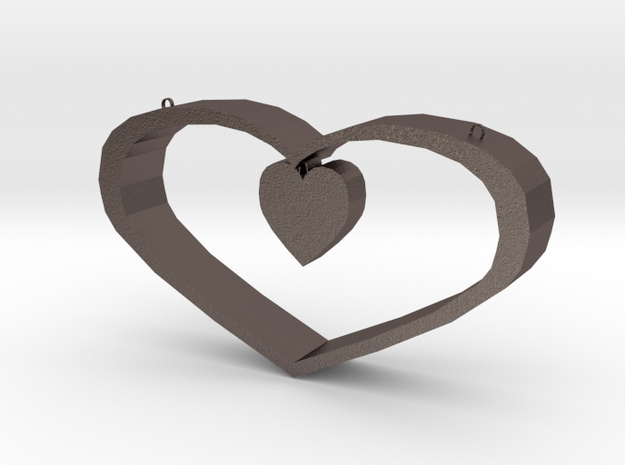 Heart Pendant - Small in Stainless Steel