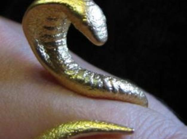 Snake Ring size 12 in Polished Bronze