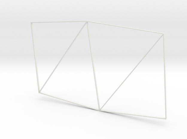 Traingle Alpha in White Natural Versatile Plastic