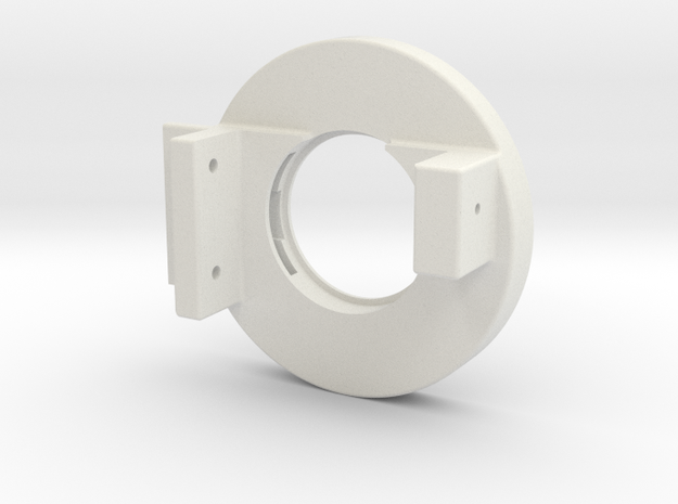 Rampage Encoder Mount Left Back in White Strong & Flexible