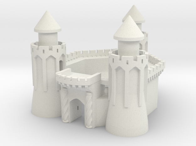 The Keep of 3 Towers in White Natural Versatile Plastic