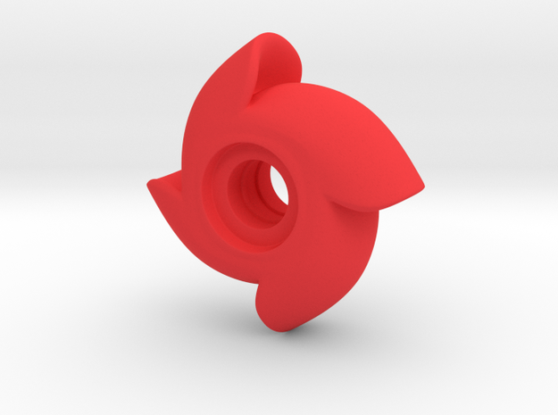 Fidget Wind Spinner - Solid in Red Strong & Flexible Polished