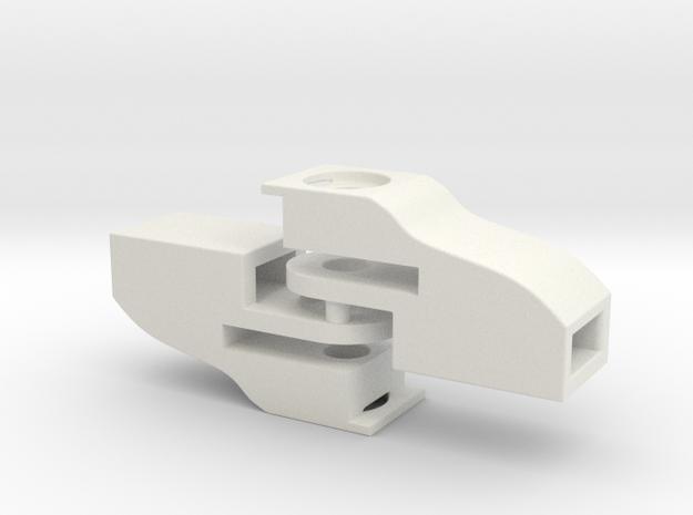 H0: 2X-NEM 362 pocket for Fleischmann, leaf spring in White Natural Versatile Plastic