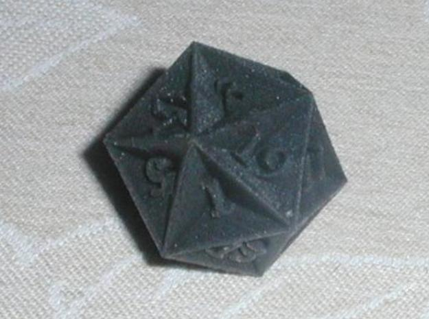 Great Dodecahedron - d20 3d printed Black Detail