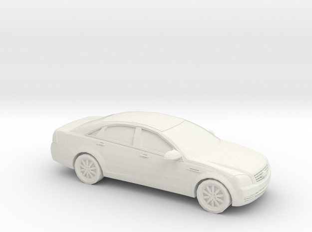 1/43 2009 Chevrolet Caprice in White Natural Versatile Plastic