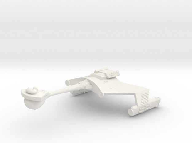 3788 Scale Klingon D6S Heavy Scout Cruiser WEM in White Strong & Flexible