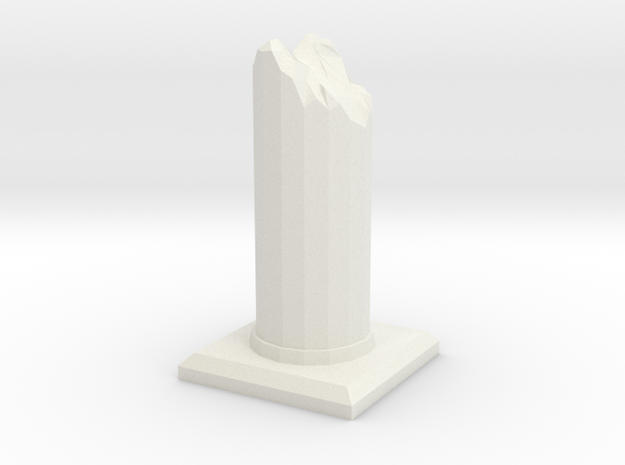 Ruined Pillar in White Strong & Flexible