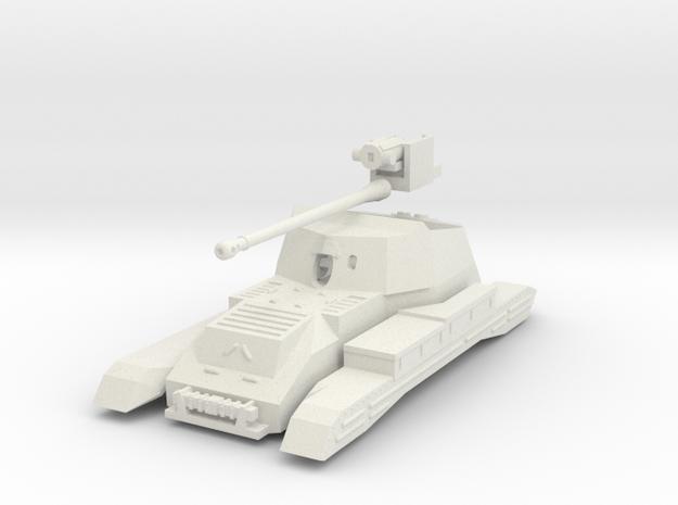 Vehicle- Valentine Tank Archer (1/72) no tracks in White Natural Versatile Plastic