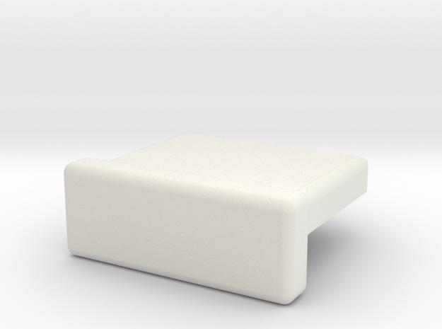Internal USB A Plug Cover in White Natural Versatile Plastic