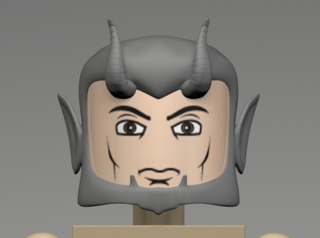 Devil or Satyr Head for Minimate 3d printed