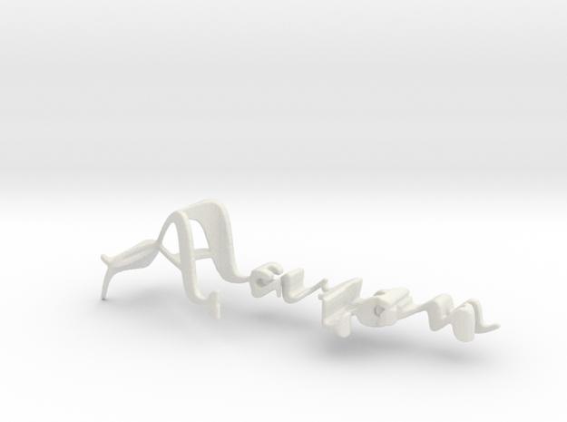 3dWordFlip: Aaron/Katie in White Natural Versatile Plastic