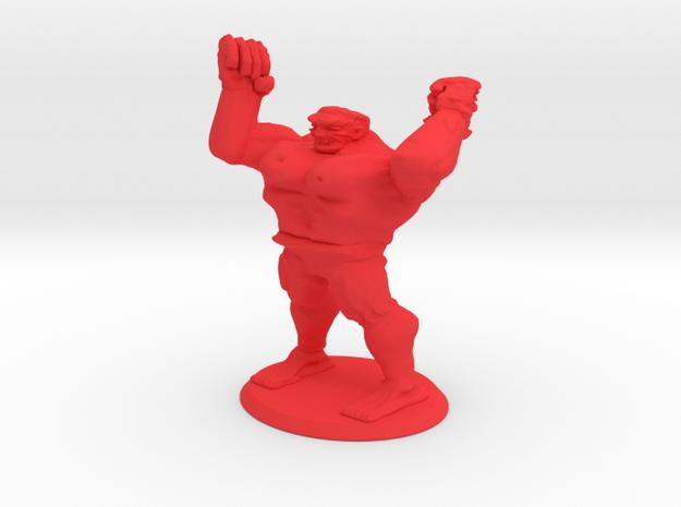 Huge Mutant Rage Zombie in Red Processed Versatile Plastic