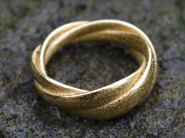 Torusring (19 mm) in Polished Gold Steel