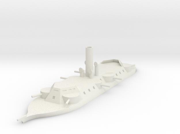 1/700 Sondor River Cruiser, Octagonal Casemate in White Natural Versatile Plastic