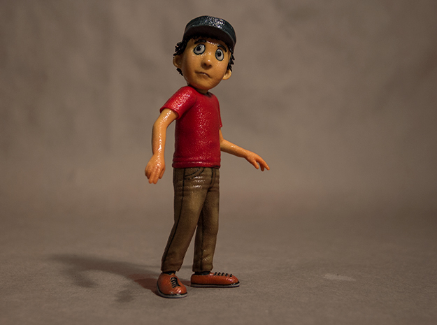 "Peter from Peter and the Wolf in Hollywood, 6.5"" in Matte Full Color Sandstone"