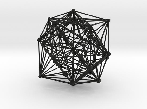 E8ArtPrint0003 E8 in an F4 24 Cell projection in Black Strong & Flexible