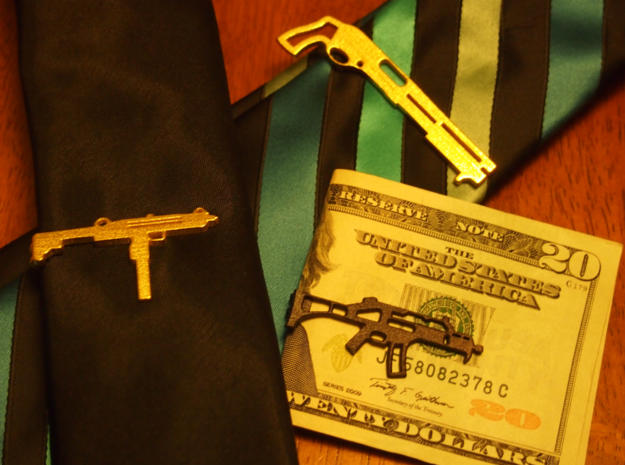 G36 MONEY/TIE CLIP 3d printed