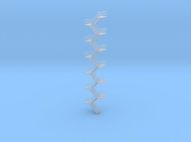 HO Staircase 253mm in Smooth Fine Detail Plastic