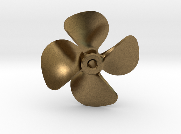 Model Ship Propeller 18x20 4-blades (Right Handed) in Raw Bronze