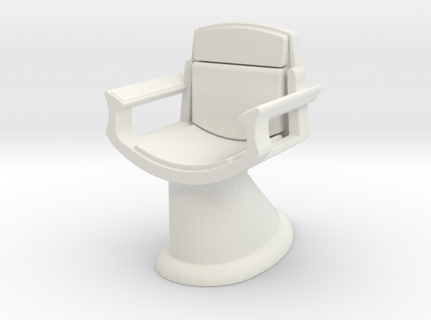 Captain's Chair (Star Trek 2009), 1/30 in White Natural Versatile Plastic