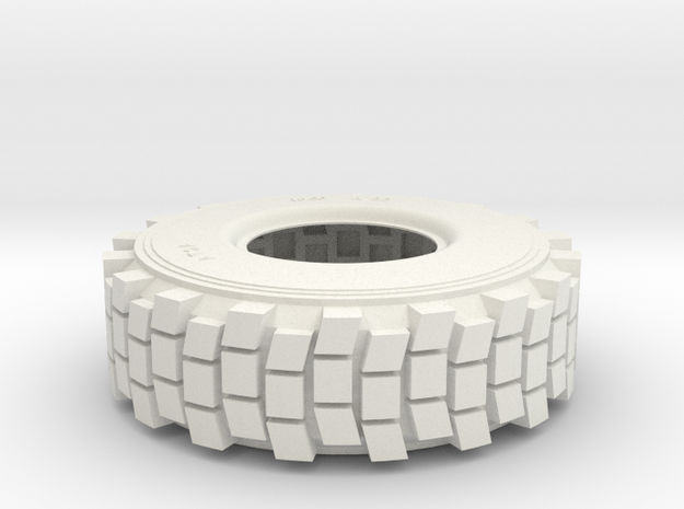 1/6 HEMTT TIRE  in White Natural Versatile Plastic