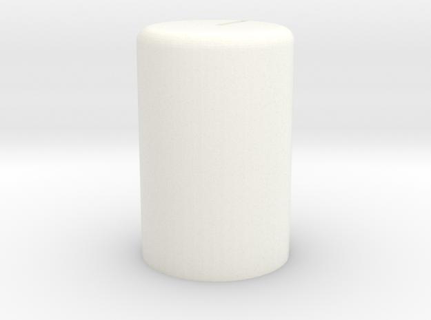 Vol Knob 164 in White Processed Versatile Plastic