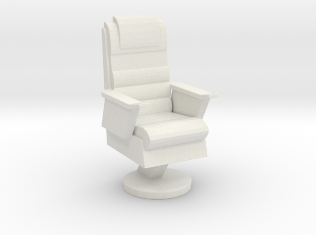 Captain's Chair (Star Trek Final Frontier), 1/30 in White Natural Versatile Plastic