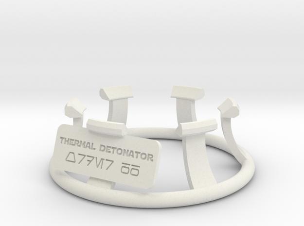 Thermal Detonator Stand in White Natural Versatile Plastic