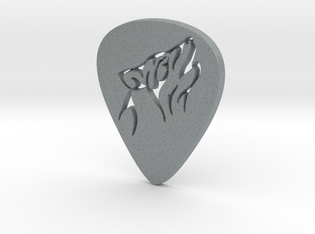 Wolf Professional Guitar Pick in Polished Metallic Plastic