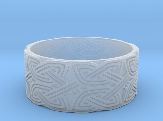 Croatian interlace male Ring (+2 armor) in Frosted Extreme Detail