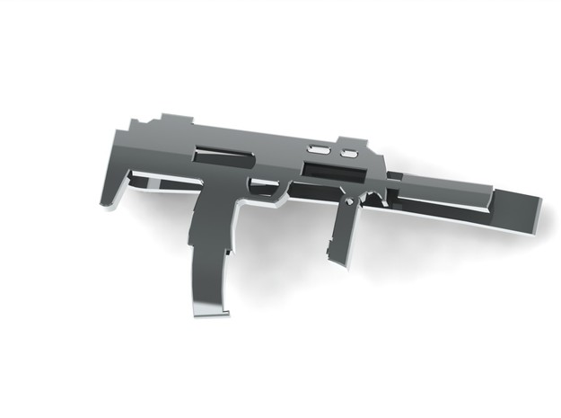 MP7 MONEY/TIE CLIP in Polished Bronzed Silver Steel