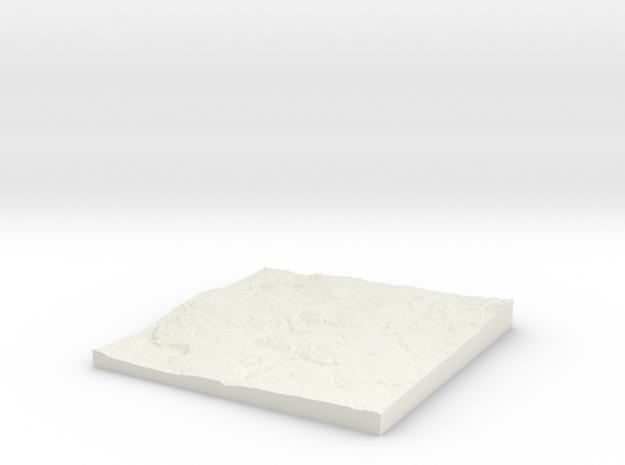 Rhodes W380 S400 E390 N410  in White Natural Versatile Plastic