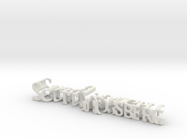 3dWordFlip: ScottGrossberg/DarkKnight in White Natural Versatile Plastic