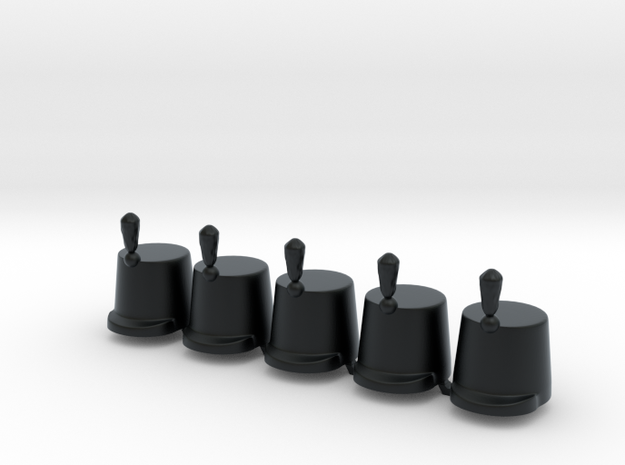 5 x British Shako lP in Black Hi-Def Acrylate