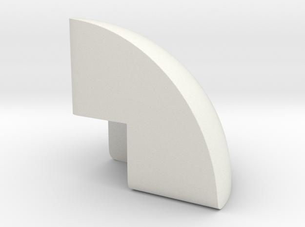 2x2 ball corner 22 in White Natural Versatile Plastic