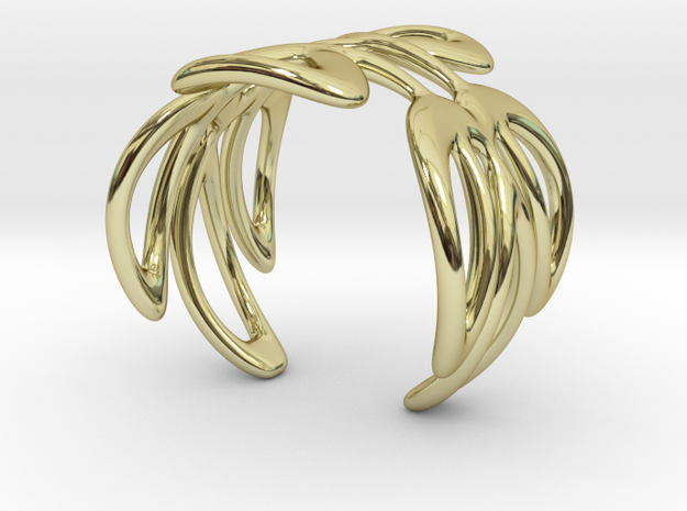Cuff Bracelet Weave Line B-006 in 18k Gold Plated Brass