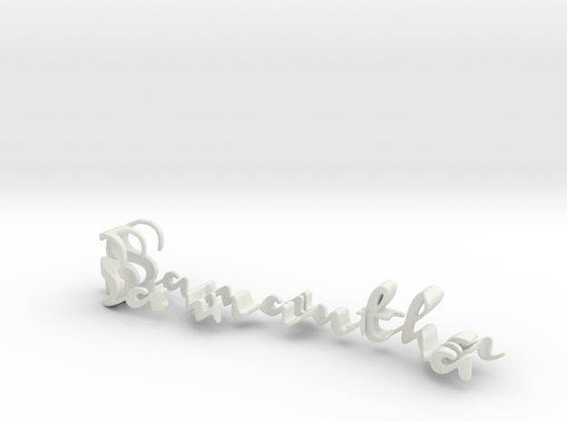 3dWordFlip: Samantha/Elijah in White Natural Versatile Plastic