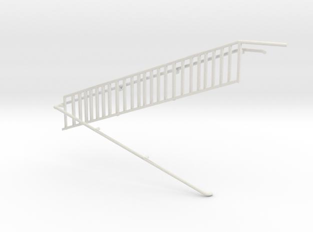 MOF Stair Railing#3 in White Natural Versatile Plastic