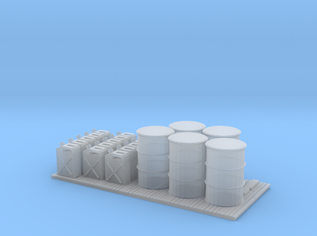 S Scale Petrol Pallet in Smooth Fine Detail Plastic