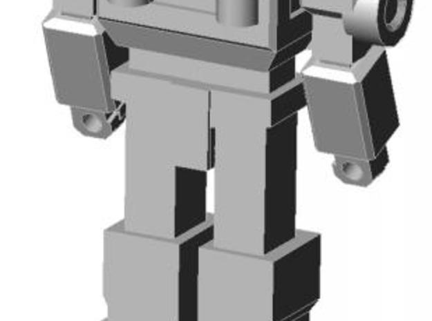 Ratchet minifigure 3d printed Completed figure, rear view