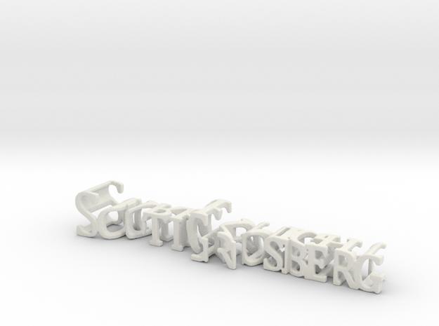 3dWordFlip: ScottGrosberg/DarkKnight in White Natural Versatile Plastic