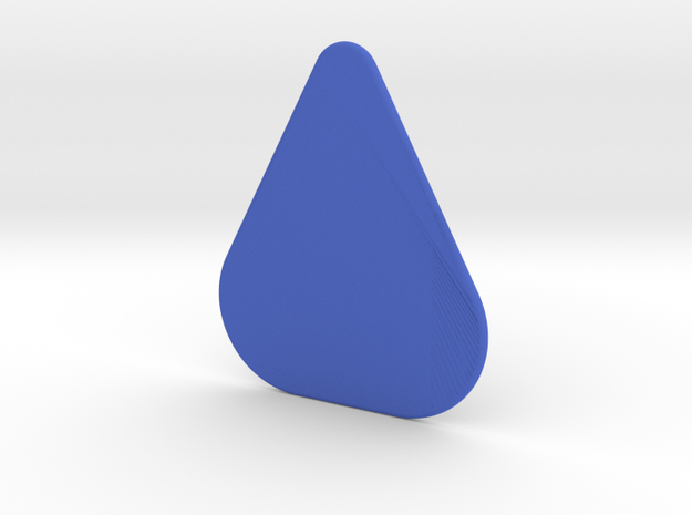 Plectrum Standard in Blue Strong & Flexible Polished