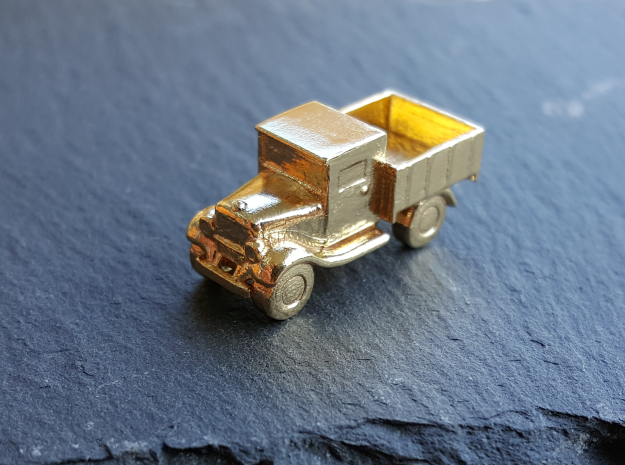 Old Pickup Truck Game Token in Raw Brass