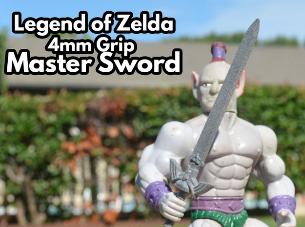 Master Sword, 4mm Grip in White Natural Versatile Plastic