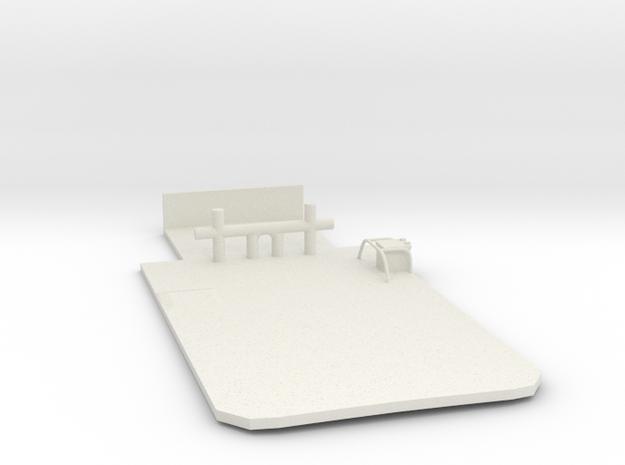 Main Deck Inlay 1/100 V54 fits Harbor Tug in White Natural Versatile Plastic