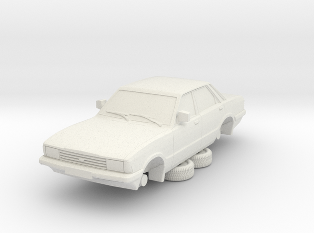 1-76 Ford Cortina Mk5 4 Door Hollow in White Natural Versatile Plastic
