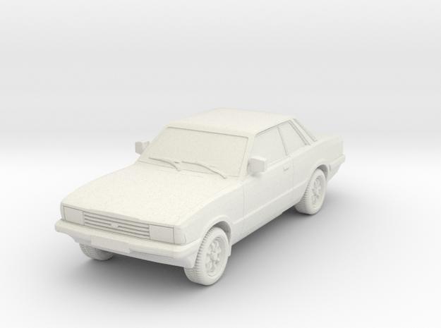 1-64 Ford Cortina Mk5 2 Door Hollow Wheels Attache in White Natural Versatile Plastic